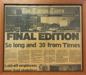 The-Tampa-Times-Pat-Hill-Framed-Final-Edition