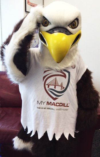 MacDill Mascot, Mac the Eagle