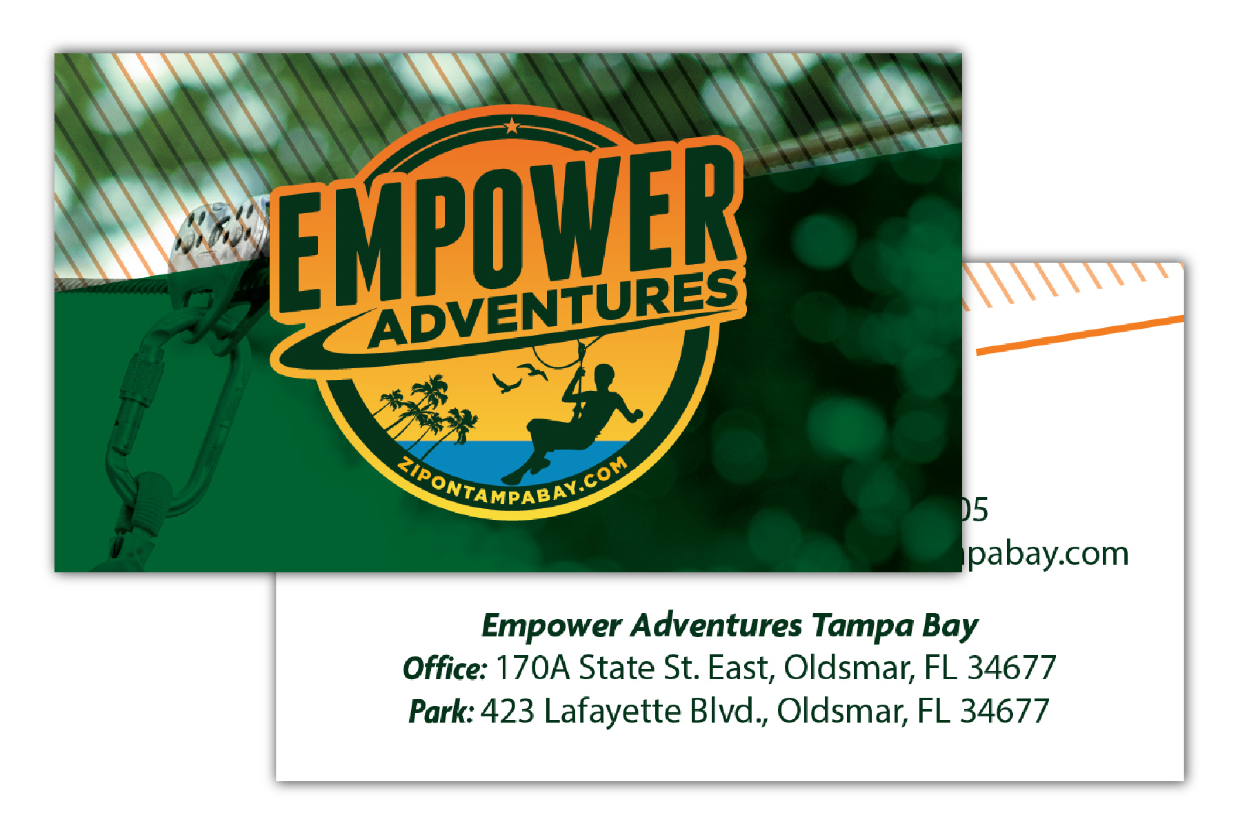 Zip on Tampa Bay Business Cards for HCP Portfolio