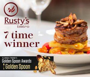 Rusty's Bistro 7 Time Golden Spoon Winner