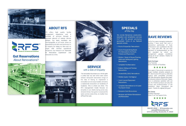 trifold brochure design for RFS