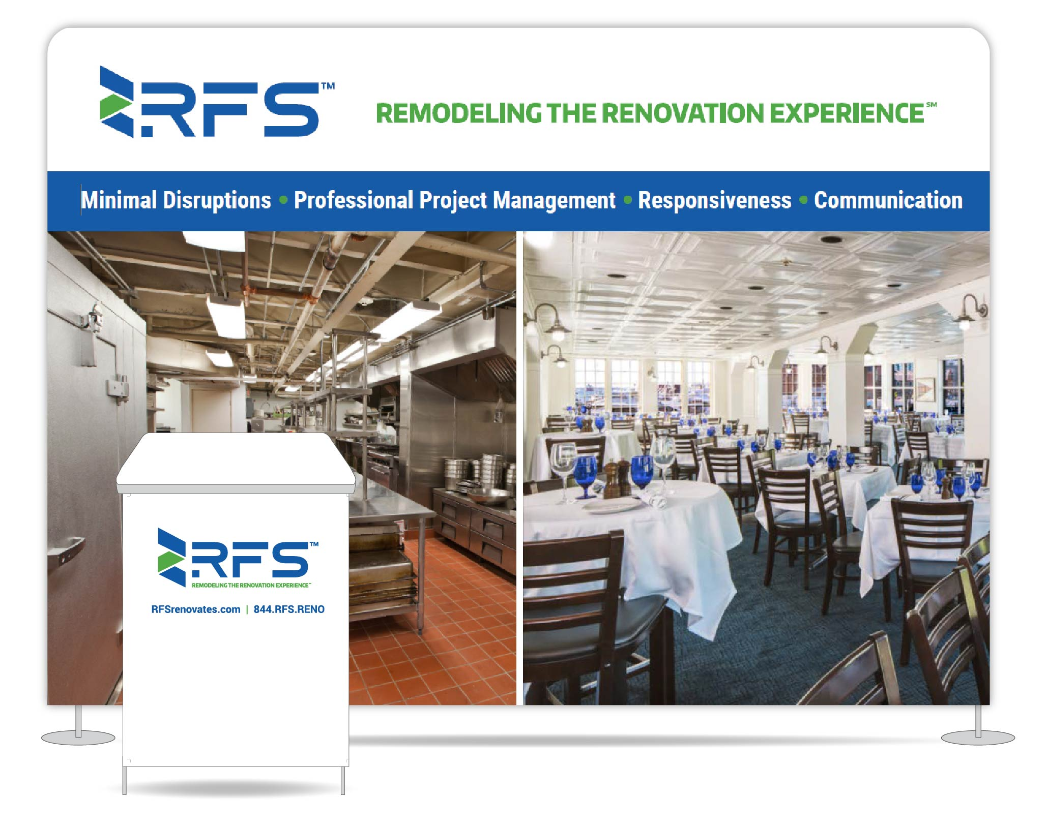 RFS trade show booth graphic