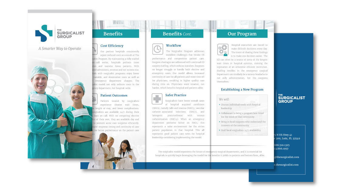 The Surgicalist Group Trifold Brochure