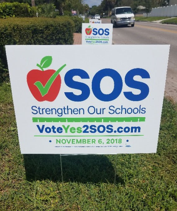 SOS Yard Sign