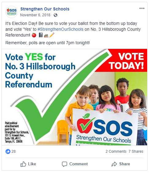 SOS Vote Today Ad