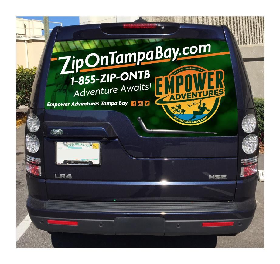 Image of a Car wrap for Empower Adventures