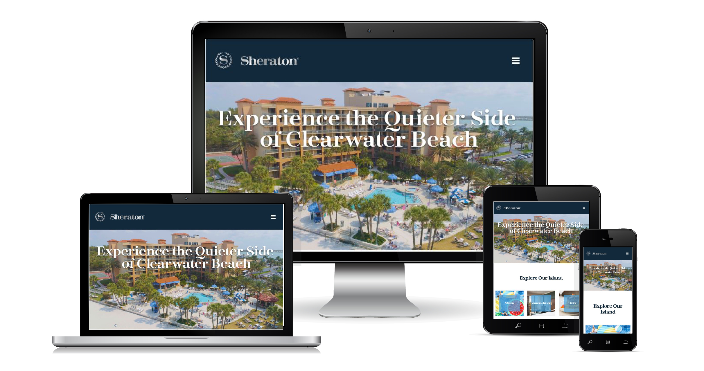 Sheraton Sand Key website on different devices
