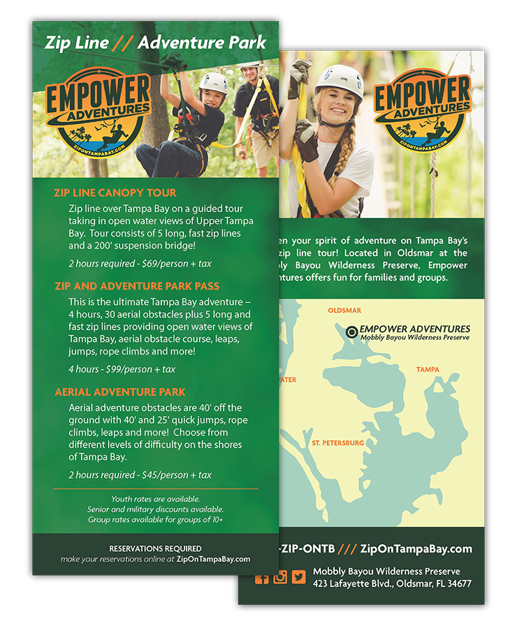 Empower Adventures Rack Card Design